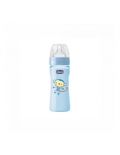 Chicco Biberón Well Latex Azul +2 meses 250ml