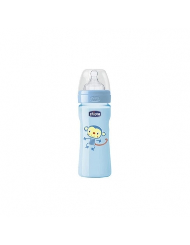 Chicco Biberón Well Silicona Azul +4 meses 330ml