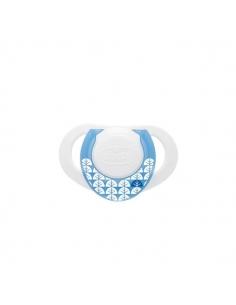 Chicco Chupo Physio Anatómico Azul+ 4 meses 2uds