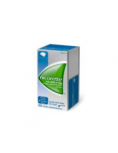 Nicorette Ice Mint Chicles 4mg 105uds