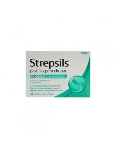 Strepsils Menta 24 Pastillas