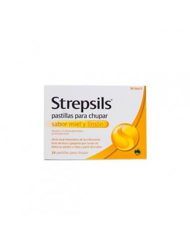 Strepsils Miel Limon 24 Pastillas