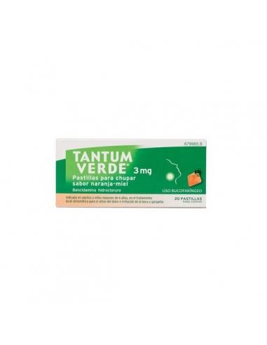 Tantum Verde 3mg Pastillas Naranja Miel 20uds