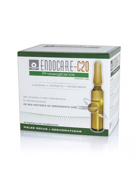 Endocare 1 Second C20 Proteoglicanos Ampollas 30x2ml