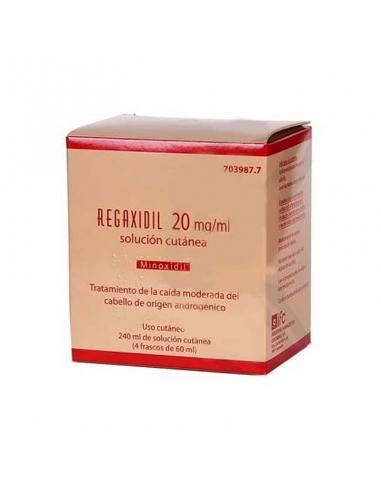 Regaxidil 20mg/ml Solución Cutánea 4x60ml