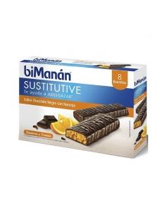 Bimanan Chocolate Naranja 8 Barritas