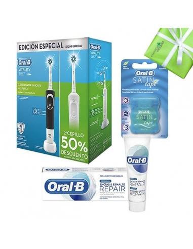 Pack Cepillo Eléctico Duplo y Pasta Oral B