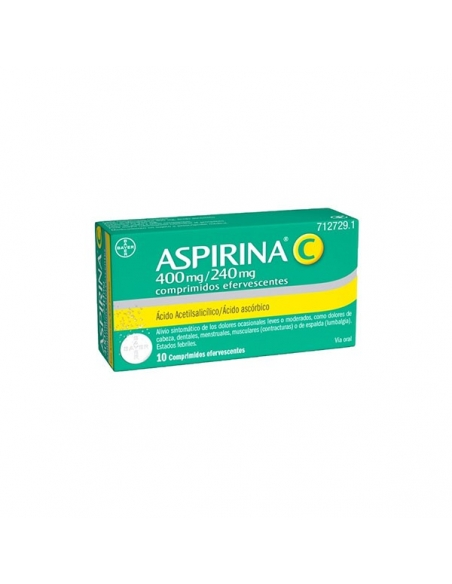 Aspirina C 400/240mg Comprimidos Efervescentes 10uds