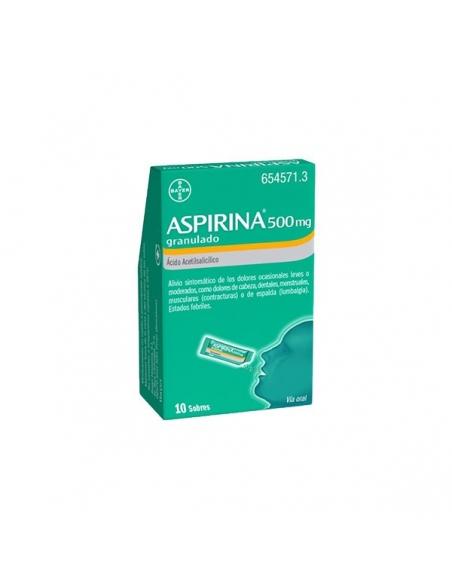 Aspirina Granulado 500mg Sobres 10 uds Efp