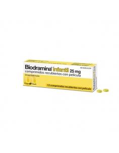 Biodramina Infantil 25mg 12 Comprimidos
