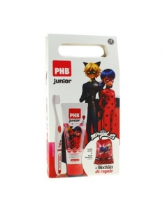 PHB Pack Junior Cepillo Lady bug + Pasta 75 ml + mochila de regalo