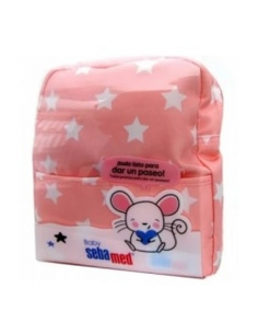 Sebamed Mochila Rosa + Productos Cuidado Bebé