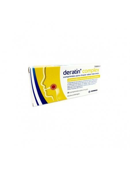 Deratin Complex Miel Limón 30 Comprimidos