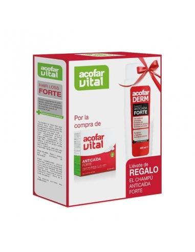 Acofaderm Anticaida Forte Champú 200ml + 15 Ampollas