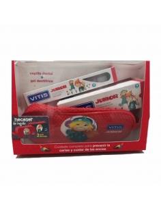 Vitis Pack Junior Cepillo + Gel 75ml + Neceser Regalo