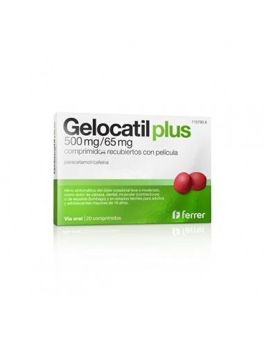 Gelocatil Plus 500mg/65mg 20 Comprimidos