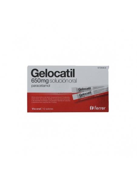 Gelocatil Solución Oral Liquido 650mg 12 Sobres