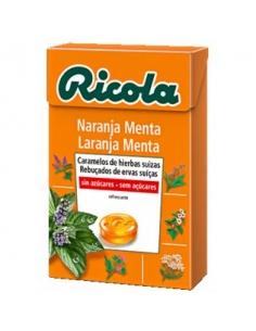 Ricola Caramelo Naranja Menta Sin Aucar Caja 50gr