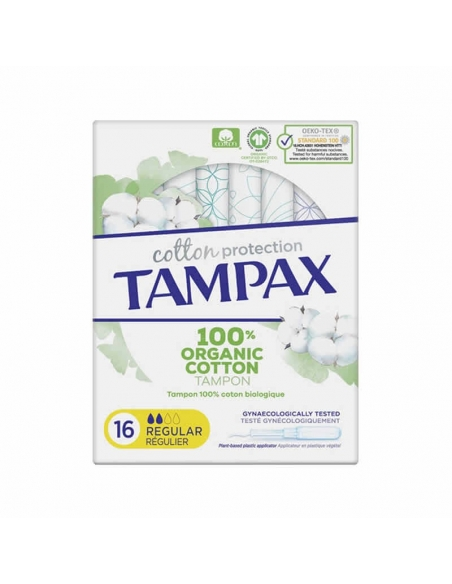 Tampax Natural Regular Protection 16uds