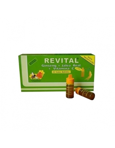Revital Ginseng + Jalea Real + Vitámina C Ampollas 20uds